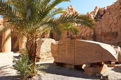 komplicerad karnak fördärvar tempelet Arkivbild