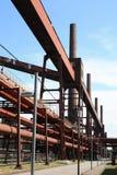 komplicerat industriellt min för kol Royaltyfria Foton