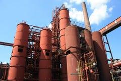 komplicerat industriellt min för kol Arkivfoto