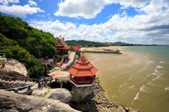 komplicerat tempel thailand Royaltyfri Bild