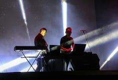 Komplizen-Angelegenheit Live an der internationalen Multimedia-Präsentation - umgebendes Festival Gorlice polen Lizenzfreies Stockfoto