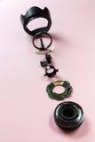Komponenten einer Linse Stockfoto