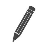 Komponera symbolen, blyertspenna Arkivfoto