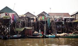Kompong Phlok floating village Stock Image