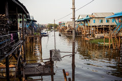 Kompong Phlok floating village Stock Photo