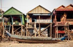 Kompong Phlok floating village Royalty Free Stock Photography