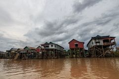 Kompong Phluk Royaltyfri Fotografi