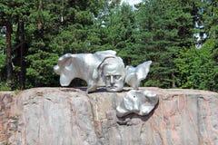 Komponist Sibelius Monument in Helsinki Stockfotos