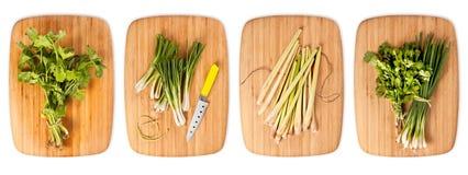 Komposit med många olika variationer av ingredienser Arkivbild