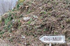 Kompost organisk avfalls Arkivbild