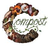 Kompost som Composting begrepp vektor illustrationer