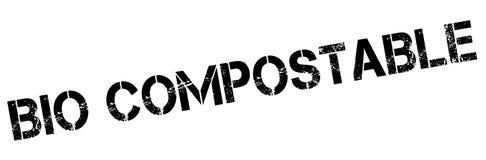 Kompostierbarer BioStempel Lizenzfreie Stockbilder