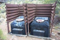 Kompostierung Kampierens Toiletten-Grand Canyon -Arizona im Freien Lizenzfreies Stockbild