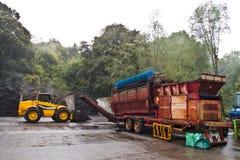 Kompostierung von Maschinen Stockbild