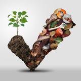 Kompostsymbol stock illustrationer