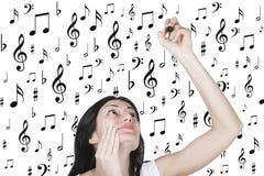 Kompozytor Muzyczna miłość Obrazy Stock