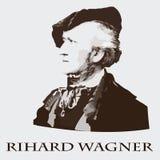 Kompozytor Richard Wagner tło karty fasonują wektor przydać jak portret Zdjęcie Royalty Free