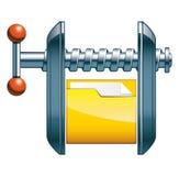 Kompres kartoteki ikona ilustracja wektor