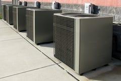 kompresora odżywka chłodzenia powietrza rzędu jednostki Fotografia Stock