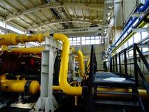 Kompressoren stationieren für Erdgas Stockbild