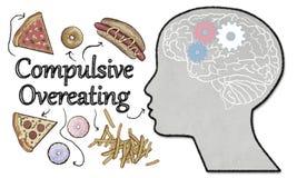 Kompulsywna Przejadać się ilustracja z szybkim żarciem royalty ilustracja