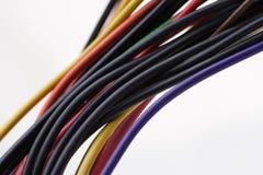 Komputerów kable na białym tle Zdjęcia Royalty Free