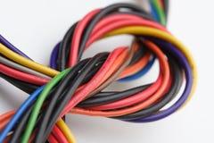 Komputerów kable na białym tle Zdjęcie Stock