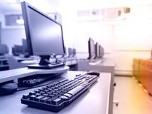 komputerów pokoju miejsce pracy Zdjęcia Royalty Free