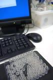 komputer 3 fiolki Fotografia Stock
