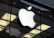 komputer apple logo Zdjęcia Stock