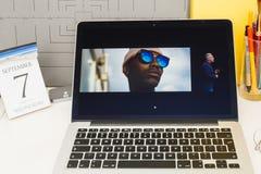 Komputer Apple strony internetowej pokazywać Fotografia Royalty Free