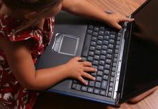 komputer dziecka Zdjęcie Royalty Free