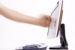 komputer frustrujące zdjęcie royalty free