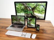 Komputer i pastylka Zdjęcia Stock