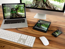 Komputer i pastylka Zdjęcie Stock