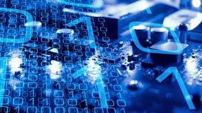Komputer i pluskwa, cyber szturmowa ochrona royalty ilustracja