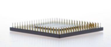 komputer jednego przetwórcy tło białe Zdjęcia Royalty Free