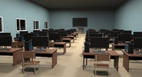Komputer klasa ilustracja 3 d Zdjęcie Stock