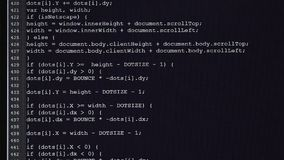 Komputer klasa Na monitoru inicjale kody wchodzić do Źródło kod tekst program komputerowy w żadny zbiory wideo