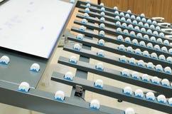 Komputer matrycować maszynę dla drukować łatwości w pakować autobus Obrazy Stock
