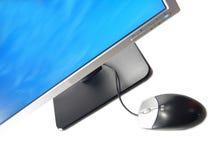 komputer monitora lcd myszy szeroki ekran Zdjęcia Stock