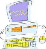 komputer nieruchomy Royalty Ilustracja