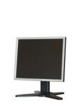 komputer odizolowane monitora lcd Fotografia Stock