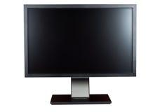 komputer odizolowywający monitoru biel obraz stock