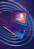 komputer osobisty laptopa komputerowy Royalty Ilustracja