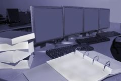 komputer pokoju szkolenia Obrazy Stock