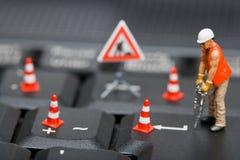 komputer postacie klawiatury miniatury działanie fotografia stock