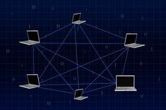komputer sieć Zdjęcie Royalty Free