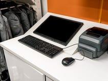 Komputer stacjonarny i mysz dla biznesu obrazy royalty free
