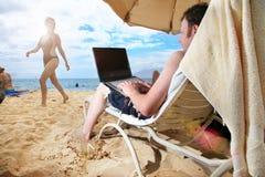 komputer wakacje Obraz Royalty Free